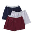 Fruit Of The Loom Mens 100% Core Cotton Assort Knit Boxers- 3 Pack 3P722