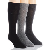 Calvin Klein Calvin Klein Flat Knit Crew Length Sock - 3 Pack A91219