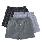 Michael Kors 100% Cotton Fashion Print Woven Boxers - 3 Pack KU25000